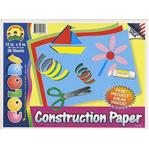 Darice 36-Sheet Construction Paper Pad, 12