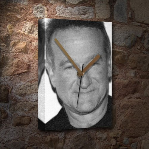 ROBIN WILLIAMS - Canvas Clock (LARGE A3 - Signed by the Artist) #js001