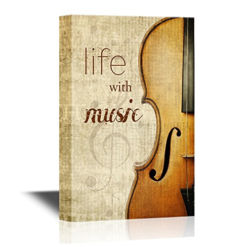 Cello with The Words Life with Music
