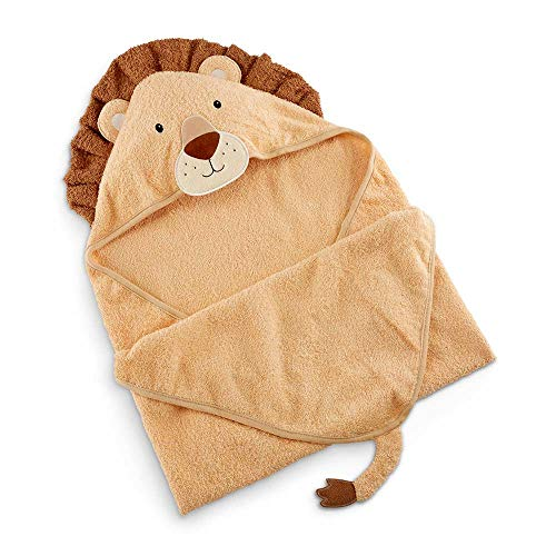 Baby Aspen Lion Hooded Towel, tan/Brown/Cream