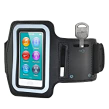 SODIAL(R) Sports Gym Jogging Black ArmBand Case for Apple iPod Nano 7 7th Generation