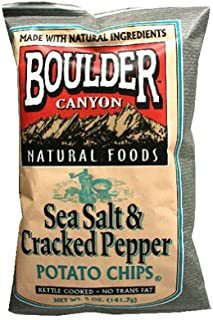 product image for Boulder Canyon Canyon Cut, Salt and Cracked Pepper, 5-Ounce Bags (Pack of 12)