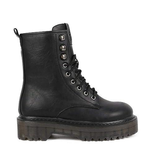 Bota Militar Doble Piso Chika10 Doctora 01 Negro - Chika10  Amazon.es   Zapatos y complementos 86b96afbffc12