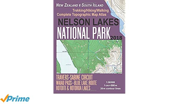 New Zealand Topographic Map.Nelson Lakes National Park Trekking Hiking Walking Complete