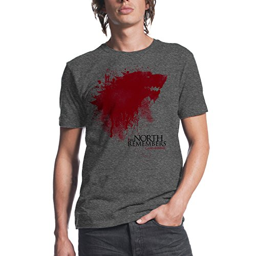 Game of Thrones The North Remembers Mens Charcoal Heather T-shirt L