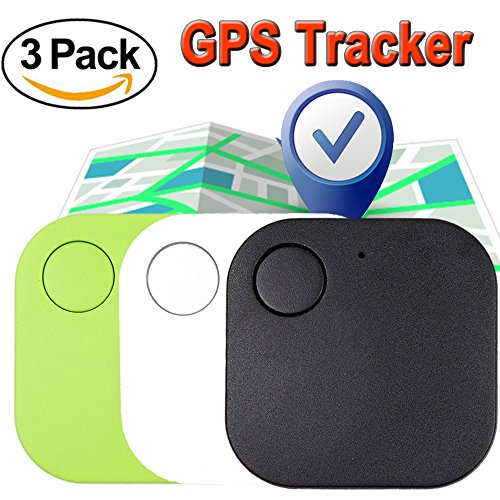 Xenzy 3 Pack Bluetooth GPS Tracker Anti lost Locator Key Finder Pet Dog Cat Child Wallet Bag Phone GPS Tracker Mini Locator Alarm Patch Wireless Seeker Selfie Remote Shutter for Mothers Day Gift (Gift Parking Dog Pet)