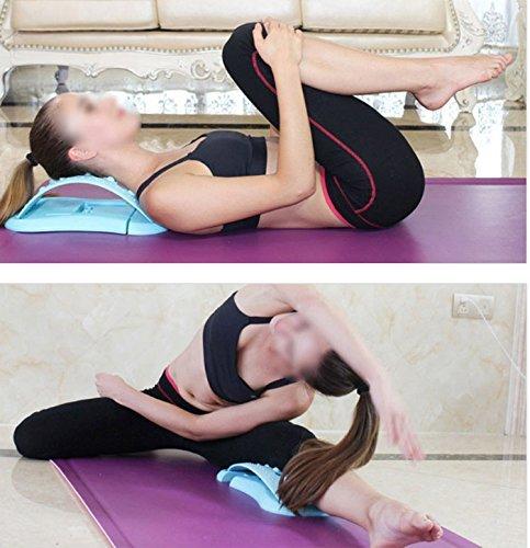 Run wave 3 stage adjustable waist stretcher acupressure massage stretching machine Multi Level Back Massage