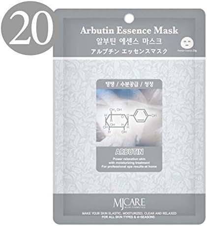 The Elixir Beauty Korean Cosmetic Beauty Essence Facial Mask Sheet Pack - Brightening Arbutin 20 pk (23g)