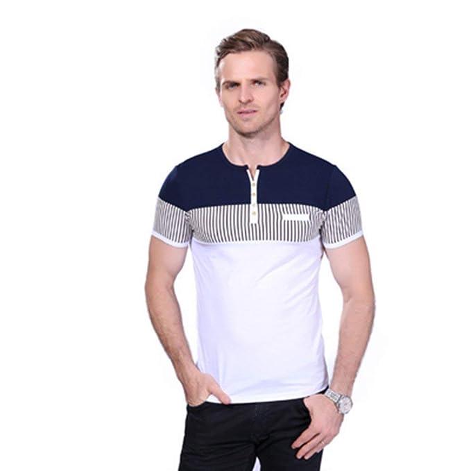 Camisas De Polo De Camisa Los Hombres De Modernas Casual Polo De La Raya  del Verano 14e9d39636b67