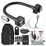 Flash Accessories for Canon Speedlite 270EX-II, 320EX, 430EX II III-RT, 600EX II-RT, With Dedicated Flexible E-TTL Flash Cord + Diffuser + Remote + Rechargeable Batteries W/ Charger + Xpix Accessories