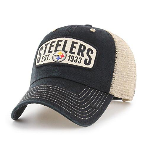 NFL Pittsburgh Steelers Woodford OTS Challenger Adjustable Hat, Black, One Size
