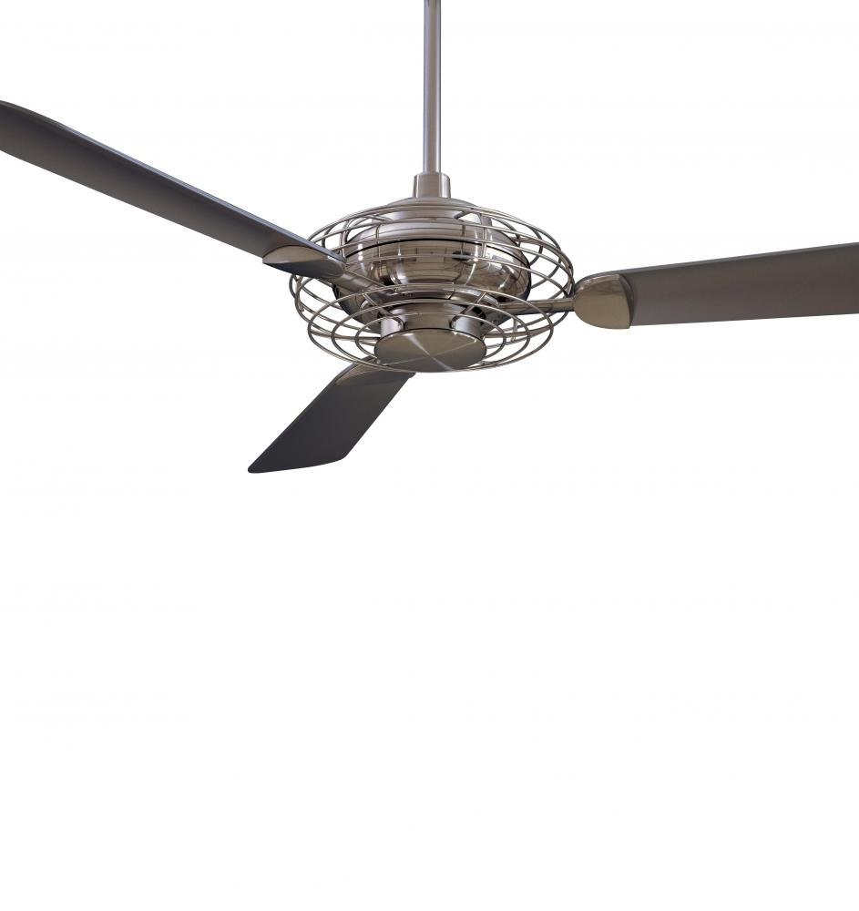 Minka-Aire F601-BS/BN, Acero,  52'' Ceiling Fan with Light, Brushed Steel