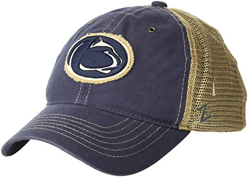 Nittany Penn Brass State Lions - ZHATS NCAA Penn State Nittany Lions Men's Tatter Relaxed Cap, Adjustable, Navy