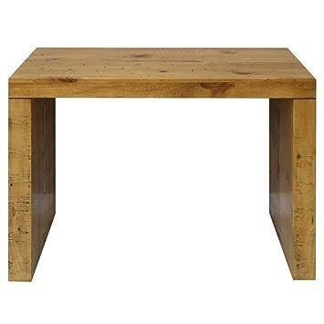 Bois Massif Table Console Extensible 4 Rallonges Chêne Clair