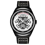 Pagani Design Men's Classic Cool Mechanical Watches Waterproof Leather Band Automatic Watch for Men (White)