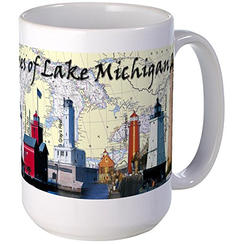 - CafePress Lighthouses Of Lake Michigan Large Mug Mugs Coffee Mug, Large 15 oz. White Coffee Cup