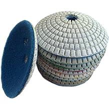 Easy Light 4 Inch Diamond Wet Convex Polishing Pads for Granite Marble 3 Pcs Set Grit 50