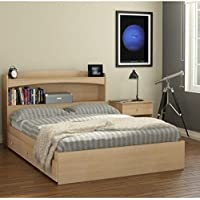 Nexera Alegria 3 Piece Full Bedroom Set in Natural Maple