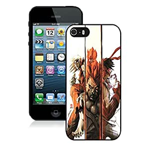 Fashionable And Unique Designed With Street Fighter Combination Cover Case For iPhone 5S Black Phone Case CR-601