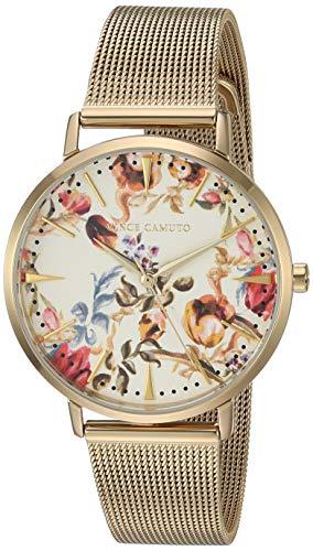Vince Camuto Women's VC/5344FLGB Gold-Tone Mesh Bracelet Watch
