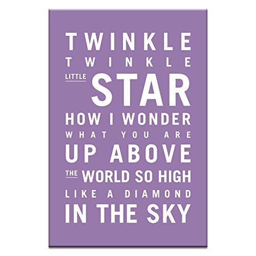 2633 Twinkle, Twinkle Little Star Canvas Artwork by Nursery Art, 12 by 18 by 1.5-Inch (Little Star Canvas Artwork)