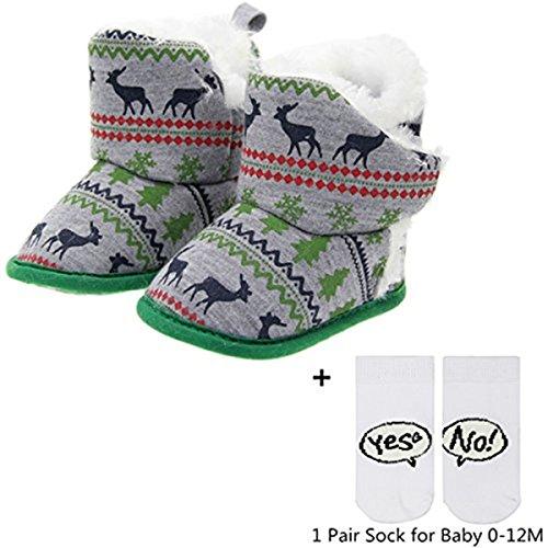 Pictures of xhorizon FL1 Unisex Baby X-mas Deer Green 7