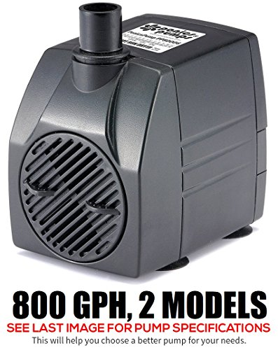 PonicsPump PP80006: 800 GPH Submersible Pump with 6' Cord - 60W… for Hydroponics, Aquaponics, Fountains, Ponds, Statuary, Aquariums, Waterfalls & more. Comes with 1 year limited warranty. by PonicsPumps