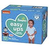 Pampers Easy Ups Pull On Disposable Potty Training Underwear for Boys, Size 4 (2T-3T), 74 Count, Super Pack