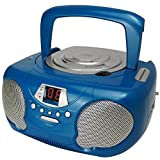 Groov-e Boombox Portable CD Player with Radio & Headphone Jack - Blu