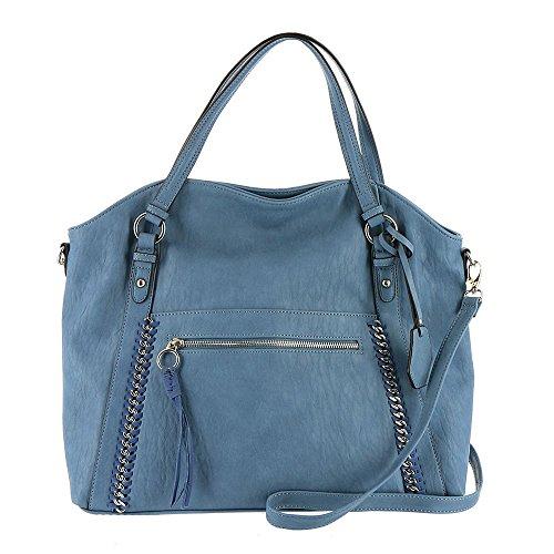 Jessica Simpson Womens Kai Tote Cornflower Blue One Size