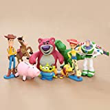 Toy Story 9pcs/set figures Toy Story 3 Buzz Lighter Woody Jessie 5-10cm Cartoon Movie Model Action Figure Toy