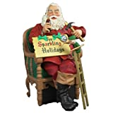 "Kurt Adler Fabriche 16""Coca-Cola Santa and Elf on Chair"