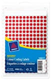 """Avery Removable Colour Coding Labels, 1/4"""", Red, Round, 1152 Labels, Removable (14001)"""