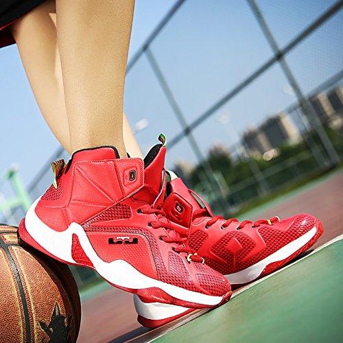 No.66 Stad Heren Schokabsorptie Loopschoenen Sneaker Basketbalschoenen Rood