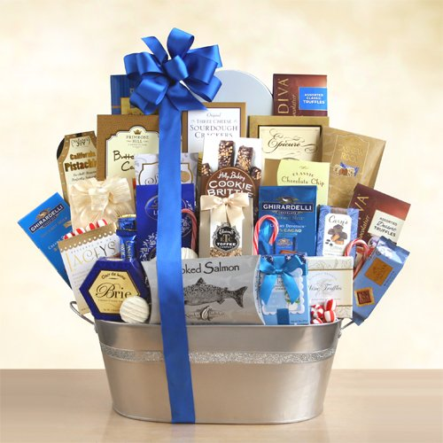 Shimmering Delights Gourmet Gift Basket by The Gift Basket Gallery