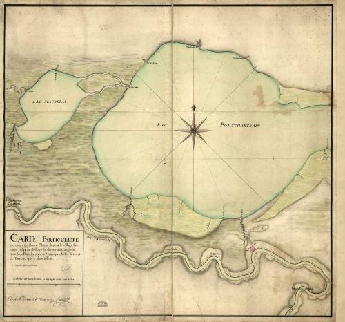 Price comparison product image 1749 Map Carte particulière du cours du fleuve St. Louis depuis le village sauvage jusqu'au dessous