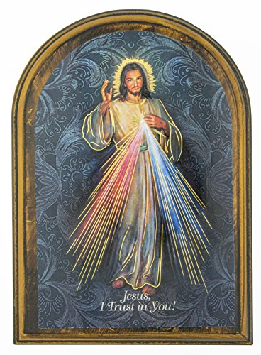 Devotional Wall Plaque with Gold Highlights (Divine Mercy) ()