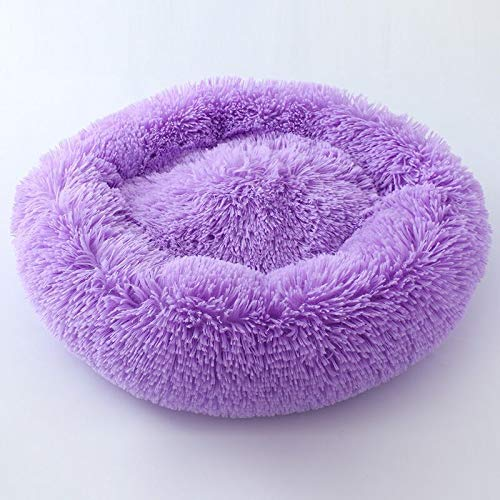 Purple M Purple M Long-haired pet nest, deep Sleep cat Litter Kennel Round nest (color   Purple, Size   M)