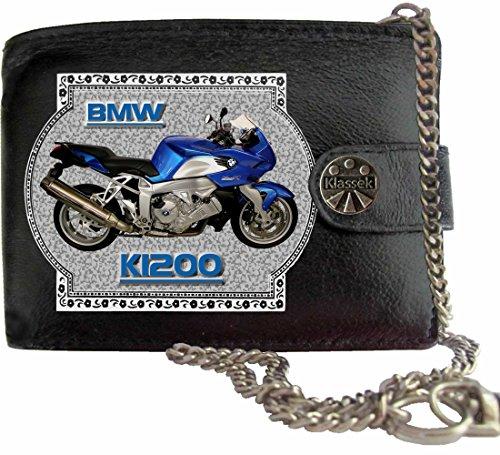 BMW K1200 Klassek Herren Geldbörse Geldbeutel Portemonnaie mit Kette Motorrad Zubehör Bike