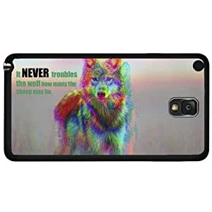 Cool Blurred Vision Wolf with Quote Hard Snap on Phone Case (Note 3 III) by icecream design