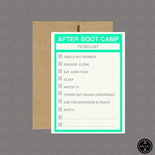 Amazon military greeting card after boot camp to do list military greeting card after boot camp to do list deployment card m4hsunfo