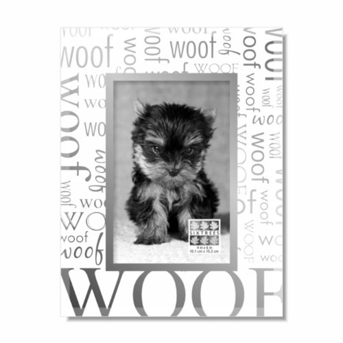 (SIXTREES Woof All Over Expression Luxury Frame, 4 by 6-Inch)