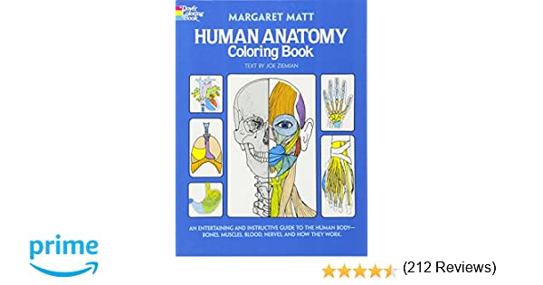 Grays Anatomy Coloring Book : Human anatomy coloring book dover childrens science books