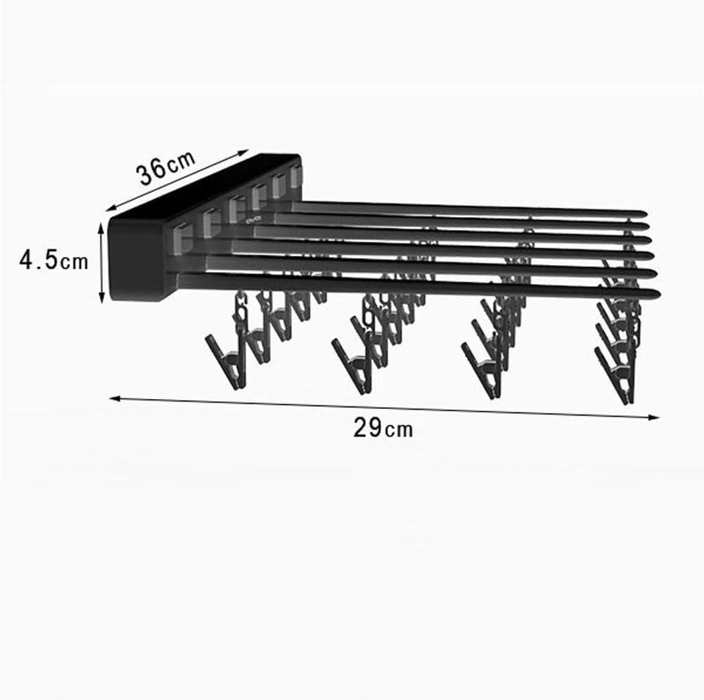 for Badezimmer Balkon 12-26 Multifunktionstrockenkindersocken und Unterw/äsche mit 24 Winddichtes Clip YangH W/äscheleine Ausziehbar Faltbare Kleiderb/ügel