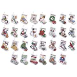 Bucilla Counted Cross Stitch Ornament Kit, 84293 Tiny Stocking
