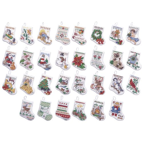 - Bucilla Counted Cross Stitch Ornament Kit, 84293 Tiny Stocking