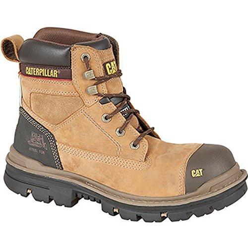 """CATERPILLAR-Bruco da 'GRAVEL S3'15,24 cm (6"""") Industrial-Stivaletti di sicurezza Beige (Dark Beige Oily Leather)"""