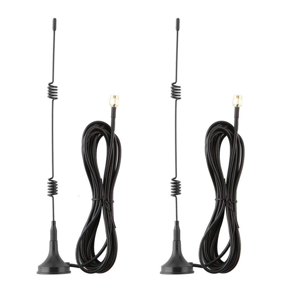 Lonnky 7dBi WiFi Antenna Extension Cable for NVR Security System and Wireless Wi-Fi IP Security Cameras, with Magnetic Base and Male to Female, 2 Pack, Black LONNKY Co. Ltd