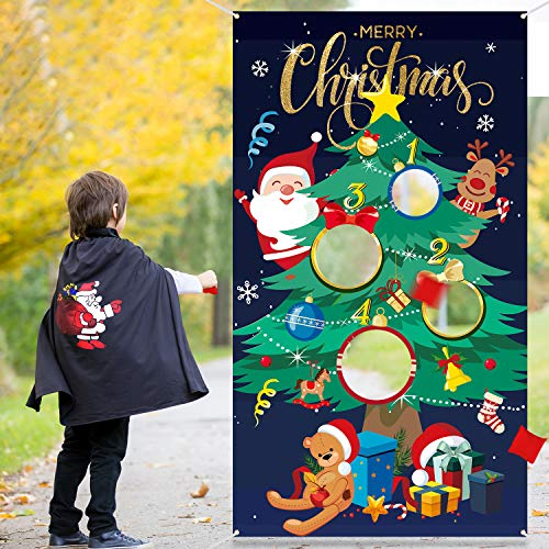 Christmas Tree Toss Game with 3 Bean Bags, Fun Indoor Outdoor Game for Kids and Adults in Christmas Party Activities, Great Christmas Decorations and Supplies (Christmas Tree) (Best Indoor Party Games For Adults)