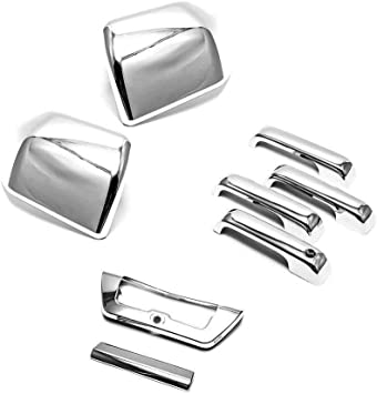 15-17 Ford F150 Truck Keypad Entry on Pillar Post Triple Chrome Trim Cover Kit
